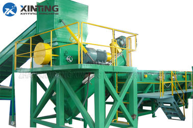 PE PP Film HDPE Recycling Machine Stainless Steel Material 12 Months Warranty