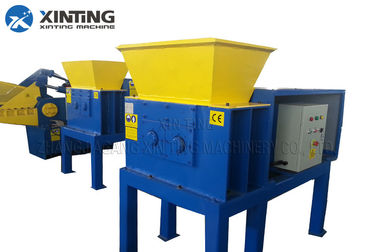 Car Oil Filter Double Shaft Shredder Recycling Machine PLC Control System