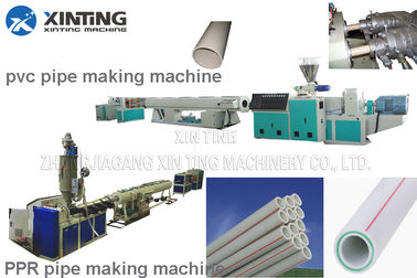 Pvc Pp Pe Ppr Pipe Making Machine Ppr Pipe Extruder Line Long Life Time
